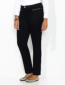 Sateen Zip Pant