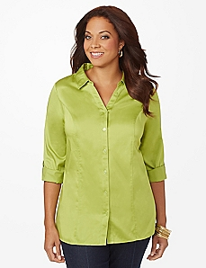Solid Sateen Shirt