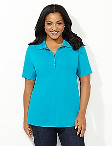 Suprema Snap-Front Polo