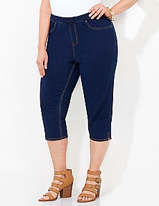 Pull-On Knit Jean Capri