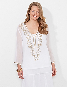 White Everything Imagined Tunic