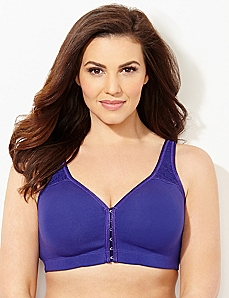 Amethyst Front-Close No-Wire Cotton Comfort Bra