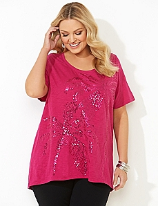 Sequin Palms Tee