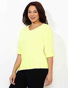 Basic Brights Roll-Tab Tee