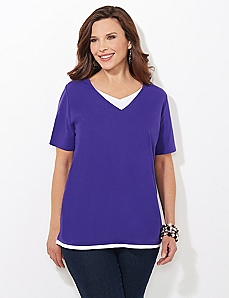 Suprema Layered Look Tee