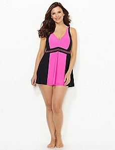 Streamlined Colorblock Swimdress