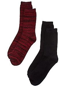 2-Pack Solid & Space Dye Socks