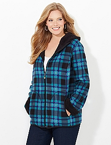Plaid Fleece Coat