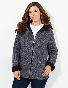 Black & White Favorite Fleece Jacket