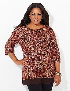 Paisley Illusion Easy Fit Tee