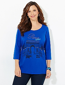 Paris XOXO Tee