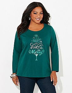 Long-Sleeve Merry Holiday Tee
