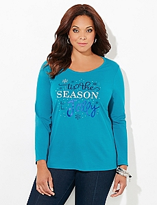 Long-Sleeve Love Holiday Tee