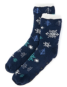 Snowflake Double-Layer Slipper Socks