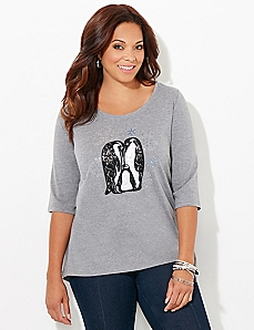 Adoring Penguins Top
