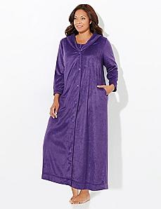 Plush Snapfront Robe