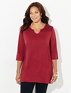Circle Crochet Easy Fit Tee