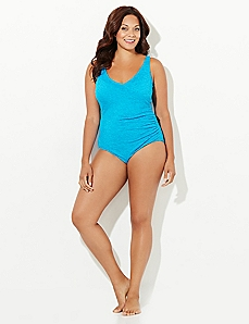 Crossover Ruched Swimsuit