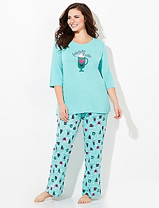Latte Love Pajama Set