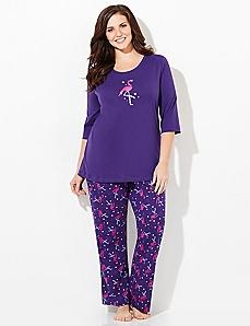 Festive Flamingo Pajama Set