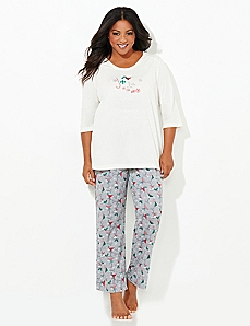 Joy To The World Pajama Set