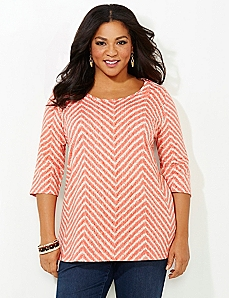 Chevron Scoop Tee