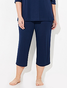 Navy Cozy Chic Sleep Capri