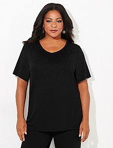 Sequin Trim Active Tee