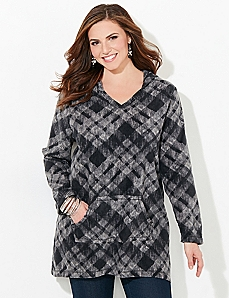 Plaid Comfort & Joy Fleece Pullover