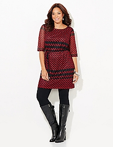 Festive Chevron Dress