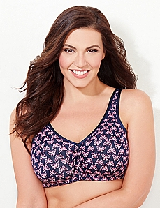 Butterfly No-Wire Cotton Comfort Bra