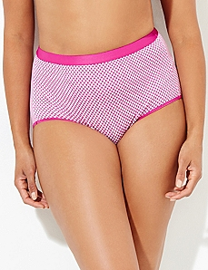 Pink Gingham Cotton Full Brief