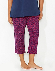 Parisian Paisley Sleep Capri