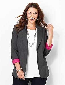 Roll-Sleeve Blazer by CATHERINES
