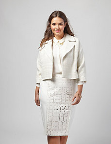 Cropped Boucle Jacket by OTIS