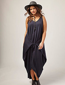 Jersey High-Low Tank Dress by OTIS