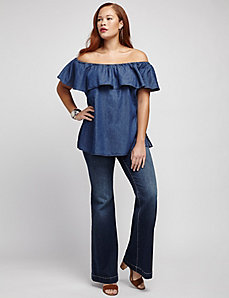 Chambray Off Shoulder