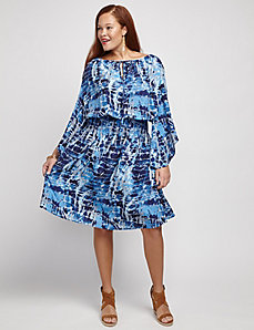 Cold Shoulder Print Dress