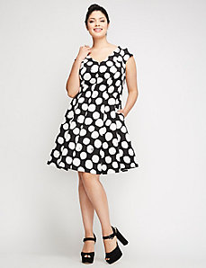Dot Print Dress by Julia Jordan
