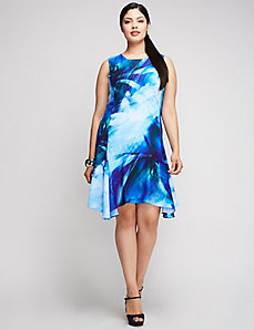 Printed Trapeze Dress by Julia Jordan