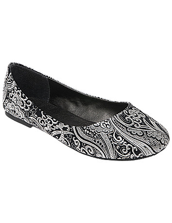Sparkly tapestry ballet flats by Lane Bryant