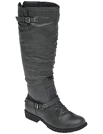 Back zip riding boot by Lane Bryant