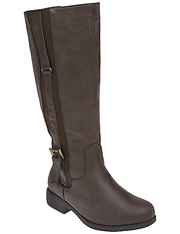 Vertical strap riding boot by Lane Bryant
