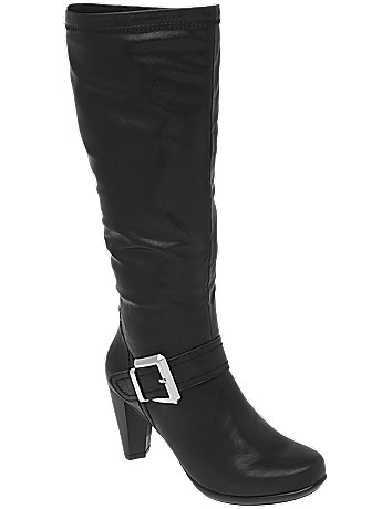 Wide calf Tall buckle boot by Lane Bryant