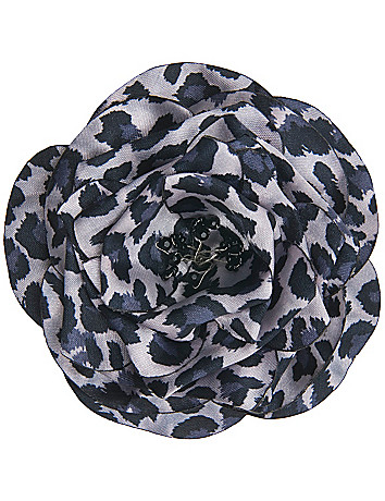 Animal print flower pin by Lane Bryant