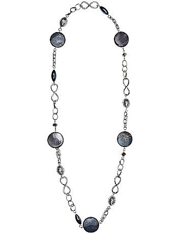 Bead and disc chain necklace by Lane Bryant
