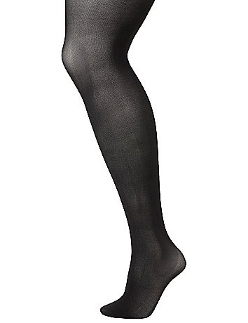 Control top solid tights by Lane Bryant