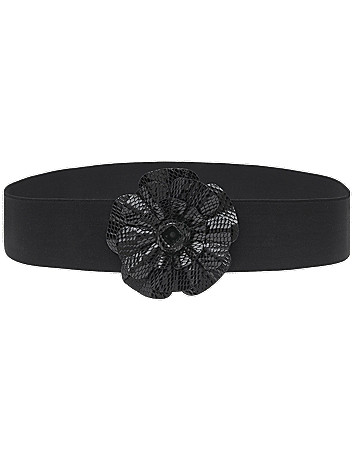 Patent snake flower stretch belt by Lane Bryant