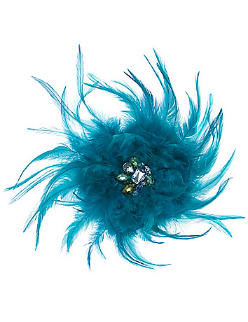 Feather and rhinestone pin by Lane Bryant