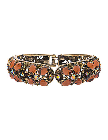 Filigree flower hinge bracelet by Lane Bryant